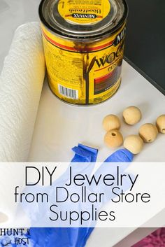 Make your own jewelry with dollar store supplies. These DIY dollar store jewelry ideas will get you stylish in a flash for any budget. You HAVE to see these cute accessory ideas from the dollar tree! #dollarstore #dollartree  #dollarstorecrafts #diyjewelry #jewelrynecklaces #woodjewelry