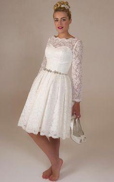 Natural Waist A-line Buttons Tea-length Wedding Dresses,2015 hall UK Wedding Dresses