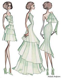 Fashion Design   ... inspired swimwear categories women sketch color pencil fashion design
