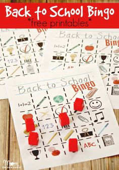 Back to School Bingo - free printables! #BacktoSchool