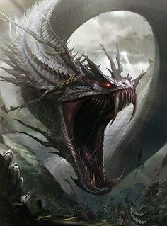 Monsters and Animals - Fantasy Art Dark Creatures, Mythical Creatures Art, Mythological Creatures, Magical Creatures, Dark Fantasy Art, Fantasy Kunst, Fantasy Artwork, Monster Concept Art, Monster Art