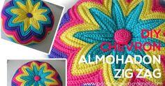 Como tejer cojin chevron crochet paso a paso