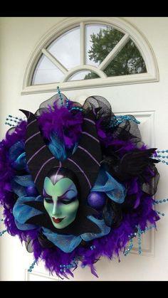 Malificent Halloween wreath
