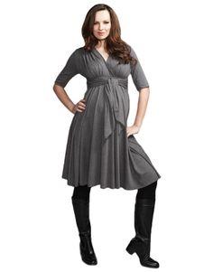 Maternal America Front-Tie Gray Dress  #maternity #fashion #pregnancy #style #minefornine