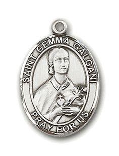 This medallion features Saint Gemma Galgani the patron saint of students.