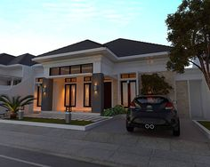 house design and architecture consultant. House Arch Design, 2 Bedroom House Plans, Modern Entrance, Modern Bungalow, 3d Home, Street House, House Elevation, Facade House, House Front