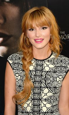 Bella Thorne might just be the queen of braids. We've seen her rock some pretty elaborate ones in her day, including a ribbon-infused one. But this easy and loose side braid simply weaved her wavy locks together. Nothing fancy—we're pretty sure this is a look even we can re-create!