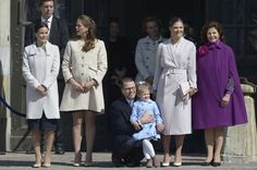 The Swedish royal family celebrates King Carl Gustaf's 69th birthday in keeping with tradition with a public celebration in the courtyard of the Royal Palace in Stockholm on April 30, 2015