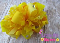 Just Yellows Boutique Funky Bow by littlebitbows on Etsy, $10.99