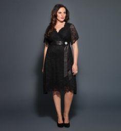 Retro Glam Lace Dress @ www.kiyonna.com