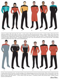 Star Trek Uniforms