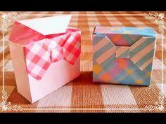 これ難しすぎ 折り紙リボンをつけた紙工作といった方がいいくらい。ハサミとの立かいまくりでややこしい。これなら、箱つくって折り紙リボンつけた方がいいな、渡してきには。