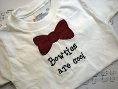 Bowties are Cool Children's Shirt by GreenGableCreations on Etsy, $15.00