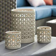 Molly Hurricane and Candleholder | Crate and Barrel
