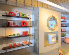 These modern bookcases were designed from reclaimed wood and plumbing pipe by Kerrie Kelly Design Lab. The open shelving allows the enclosed space to breathe, while still offering plenty of room for essentials.