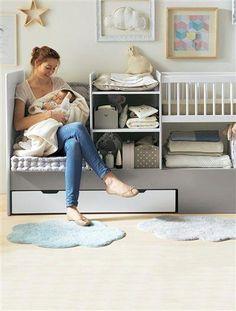 Multi-use Nursery Decor. I also like the framed cloud! Baby Bedroom, Baby Boy Rooms, Baby Boys, Kids Bedroom, Cheap Bedroom Furniture, Baby Furniture, Office Furniture, Ideas Habitaciones, Liberty Furniture