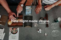 So cool! Each month they create a date night and send everything needed for you and your better half to enjoy it! Rediscover date night! #getdatebox
