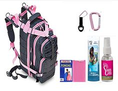 VAS Lady Black Ops Go Pack 1 EDC Series 30 Black  Pink Trim Backpack  Travel Gym Spa  Yoga  HD Poncho Bath Wipes Sweet Feet >>> Find out more about the great product at the image link.(This is an Amazon affiliate link)