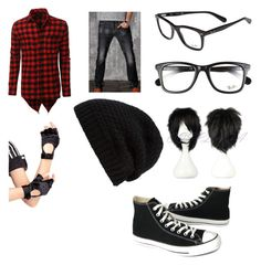 """""""Untitled #92"""" by kapratt on Polyvore featuring LE3NO, Converse, Ray-Ban, Leg Avenue, Rick Owens, men's fashion and menswear"""