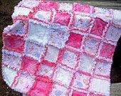 Sweet Pink Minky Dot Rag Quilt