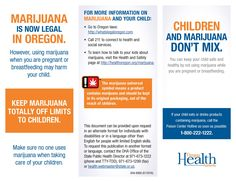 Children and marijuana don't mix : you can keep your child safe and healthy by not using marijuana while you are pregnant or breastfeeding, by the Oregon Health Authority, Public Health Division