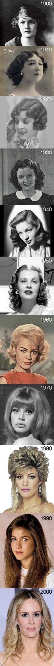 Hairstyles over the years