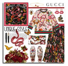 """""""Gucci Garden"""" by leegal57 ❤ liked on Polyvore featuring Gucci and gucci"""