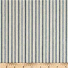 "44"" Ticking Stripe Denim Blue For my porch bed"