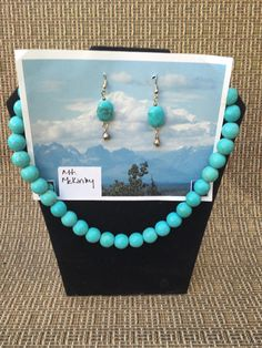 Chalk Turquoise Necklace & Earring set