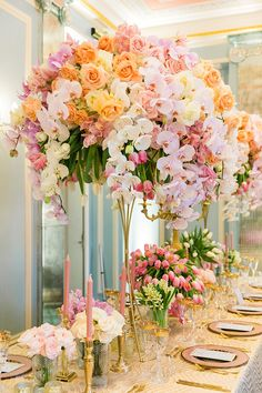 Real Wedding Gala - My Dubai Wedding Planner. One of our exquisite decoration on the guests's table. Wedding Table Centerpieces, Floral Centerpieces, Wedding Decorations, Centrepieces, Luxury Wedding Cake, Dubai Wedding, Strictly Weddings, Real Weddings, Pastel Weddings