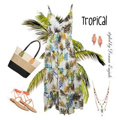 """""""Tropical"""" by emjule ❤ liked on Polyvore featuring MINNA, Kate Spade and Betsey Johnson"""