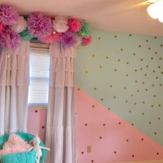 How to build a dressing room? Girls Room Wall Decor, Girls Room Design, Girl Bedroom Designs, Bedroom Decor, Bedroom Ideas, Unicorn Room Decor, Unicorn Bedroom, Big Girl Bedrooms, Little Girl Rooms