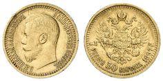 Russia, Nikolaus II., 7½ Rouble 1897, Bitkin 17, Fb. 178, edge nick, very fine    Dealer  Auction house Ulrich Felzmann    Auction  Minimum Bid:  300.00EUR