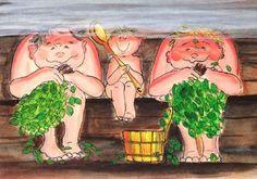 Virpi Pekkala Finnish Sauna, Best Cleaning Products, Sculpture, Sauna Ideas, Photos, Alter, Postcards, Illustration, Hobbies