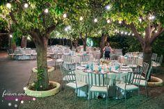 Cena en el jardín de la Masia de San Antonio de Poyo