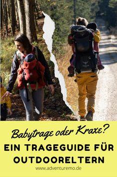 Gerade wenn man viel draußen in der Natur unterwegs ist, stehen alle Eltern irgendwann vor der gleichen Frage: Wie trage ich mein Baby/Kind am besten? Denn ganz ehrlich: so nett und praktisch Kinderwägen manchmal sind, in der freien Natur muss was anderes her. #wandernmitkindern #wanderfamilie #outdoorfamilie #wanderliebe #wandernmitbaby Baby Kind, Salzburg, Tricks, Gadgets, Backpacks, Bags, Outdoor, Driving Route Planner, Hiking With Kids