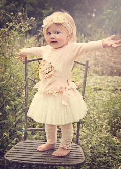 Shabby Chic Lacy Top & Tutu Bow SkirtMatching Headband & Leggings Available Too!6 Months to 5 Years