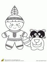 Coloriage poupées du monde garçons sur Hugolescargot.com