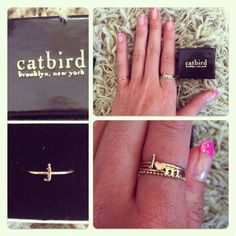 CATBIRD rings, so cute!  available at ooh la loft.  Great holiday gifts