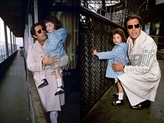 In honor of Father's Day - Chiara and her dad Marcello Mastroianni (c. 1975)