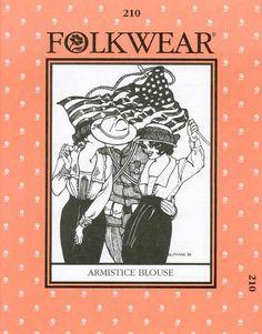 Folkwear 1918 WWI Armistice Blouse Pattern