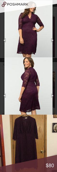Gorgeous purple lace dress- worn once! Beautiful purple lace dress- worn once! formal 1x- best fits 14-16 Dresses