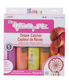 This Cotton Yarn Dye & Dream Catcher Set by Tulip is perfect! #zulilyfinds