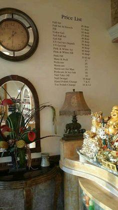 Home Nail Salon, Nail Salon Decor, Beauty Salon Decor, Beauty Bar, Nail Salon Prices, Nail Prices, Massage Room Design, Price Board, Salon Price List