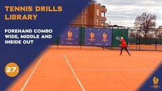 Top tennis drills: Forehand wide - middle - inside out Tennis Videos, The Middle, Inside Out, Drills, Basketball Court, Top, Free, Tennis, Drill
