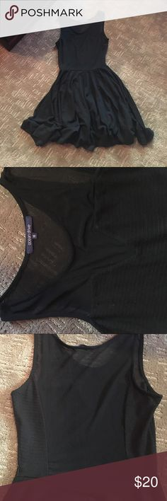 Little black dress Lightly used black dress. Sheer mesh material on top on front and down to lower back. Stretch and very comfortable. Great condition! Ocean Drive Dresses Mini