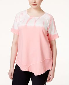4eee6b27ae9 Calvin Klein Performance Plus Size Tie-Dyed Short-Sleeve Sweatshirt Plus  Sizes - Tops - Macy s