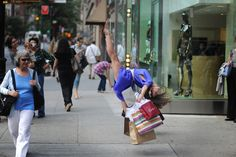 NYC. The joy of sales at Madison Avenue // Arianna Bickle in Jordan Matter's book: Dancers Among Us
