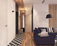 Современная квартира с большим количеством открытого пространства