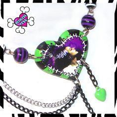 Creepy Bride of Frankenstein Necklace by HeadlessTessDIY on Etsy